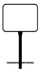 Rohrrahmen Typ 7, inkl. Erdanker (Maße (HxB)/Ø Standrohr (SR)/Ø Rahmenrohr (RR):  <b>420x630mm</b><br>Ø SR 60,3/2,0mm<br>Ø RR 26,9/1,75mm (Art.Nr.: ae47261))