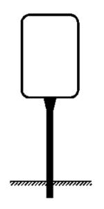 Rohrrahmen Typ 8, inkl. Erdanker (Maße (HxB) /Bodenfreih. (BF)/Länge/Ø Standr. (SR)/Ø Rahmenr. (RR):  <b>750x500mm</b><br>BF 600mm/L 1350mm<br>Ø SR 60,3/2,0mm<br>Ø RR 26,9/1,75mm (Art.Nr.: ae67261))