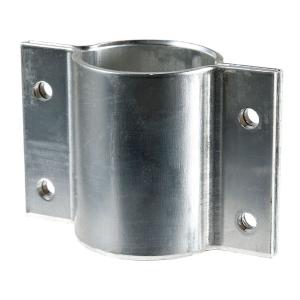 Rohrschelle aus Aluminium zur seitlichen Befestigung von Schildern, für Pfosten Ø 60 mm (Ausführung: Rohrschelle aus Aluminium zur seitlichen Befestigung von Schildern, für Pfosten Ø 60 mm (Art.Nr.: 90.2760))