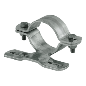 Rohrschelle, feuerverzinkt, Ø 60 oder 76 mm, verschiedene Lochabstände (Maße Ø/Lochabstand: Ø 60 mm / 70 mm (Art.Nr.: 90.2789))