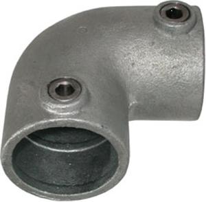 Rohrverbinder -90° Bogen-, aus Temperguss, TÜV-geprüft, VPE 5 - 10 Stk. (für Rohr-Durchmesser/Menge:  <b>26,9 mm</b> / VPE 10 Stk. (Art.Nr.: 31644))