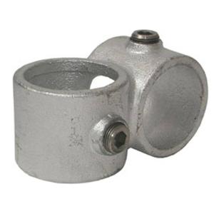 Rohrverbinder -90° Querschelle-, aus Temperguss, TÜV-geprüft, VPE 5 - 10 Stk. (für Rohr-Durchmesser/Menge:  <b>26,9 mm</b> / VPE 10 Stk. (Art.Nr.: 31698))