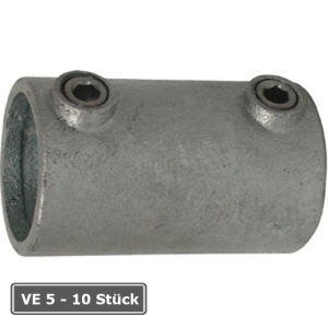 Rohrverbinder -Au&szlig;en-, VE 5 - 10 St&uuml;ck, aus Temperguss, T&Uuml;V-gepr&uuml;ft (f&uuml;r Rohr-Durchmesser/Verpackungseinheit (VE):  <b>26,9 mm</b> (VE 10 Stk.) (Art.Nr.: 31690))