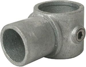 Rohrverbinder -Drehstück-, aus Temperguss, TÜV-geprüft, VPE 8 - 10 Stk. (für Rohr-Durchmesser/Menge:  <b>33,7 mm</b> / VPE 10 Stk. (Art.Nr.: 31682))