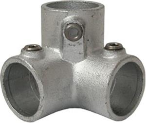 Rohrverbinder -Dreiweg-Endstück-, aus Temperguss, TÜV-geprüft, VPE 5 - 10 Stk. (Rohr-Durchmesser/Menge:  <b>26,9 mm</b> / VPE 10 Stk. (Art.Nr.: 31649))