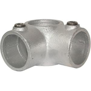 Rohrverbinder -Eckstück-, aus Temperguss, TÜV-geprüft, VPE 5 - 10 Stk. (für Rohr-Durchmesser/Menge:  <b>26,9 mm</b> / VPE 10 Stk. (Art.Nr.: 31633))