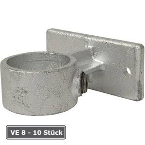 Rohrverbinder -Gel&auml;nderf&uuml;hrung-, VE 8 - 10 St&uuml;ck, aus Temperguss, T&Uuml;V-gepr&uuml;ft (f&uuml;r Rohr-Durchmesser/Verpackungseinheit (VE):  <b>33,7 mm</b> (VE 10 Stk.) (Art.Nr.: 31673))