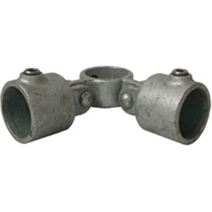 Rohrverbinder -Gelenkstück-, aus Temperguss, TÜV-geprüft, VPE 5 - 10 Stk. (für Rohr-Durchmesser/Menge:  <b>26,9 mm</b> / VPE 10 Stk. (Art.Nr.: 31703))