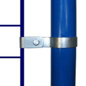 Rohrverbinder -Gitterhalter einseitig-, aus Temperguss, TÜV-geprüft, VPE 5 - 10 Stk. (für Rohr-Durchmesser/Menge:  <b>26,9 mm</b> / VPE 10 Stk. (Art.Nr.: 31714))