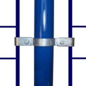 Rohrverbinder -Gitterhalter zweiseitig-, aus Temperguss, TÜV-geprüft, VPE 5 - 10 Stk. (für Rohr-Durchmesser/Menge:  <b>26,9 mm</b> / VPE 10 Stk. (Art.Nr.: 31719))