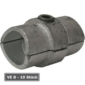 Rohrverbinder -Innen-, VE 8 - 10 St&uuml;ck, aus Temperguss, T&Uuml;V-gepr&uuml;ft (f&uuml;r Rohr-Durchmesser/Verpackungseinheit (VE):  <b>33,7 mm</b> (VE 10 Stk.) (Art.Nr.: 31695))