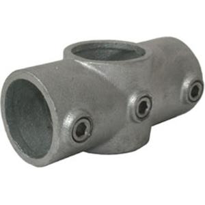 Rohrverbinder -Kreuzstück-, aus Temperguss, TÜV-geprüft, VPE 5 - 10 Stk. (für Rohr-Durchmesser/Menge:  <b>26,9 mm</b> / VPE 10 Stk. (Art.Nr.: 31638))