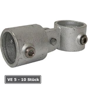Rohrverbinder -T-Gelenkst&uuml;ck-, VE 5 - 10 St&uuml;ck, aus Temperguss, T&Uuml;V-gepr&uuml;ft (f&uuml;r Rohr-Durchmesser/Verpackungseinheit (VE):  <b>33,7 mm</b> (VE 10 Stk.) (Art.Nr.: 31725))