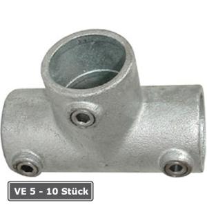 Rohrverbinder -T-St&uuml;ck lang-, VE 5 - 10 St&uuml;ck, aus Temperguss, T&Uuml;V-gepr&uuml;ft (f&uuml;r Rohr-Durchmesser/Verpackungseinheit (VE):  <b>26,9 mm</b> (VE 10 Stk.) (Art.Nr.: 31628))