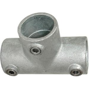 Rohrverbinder -T-Stück lang-, aus Temperguss, TÜV-geprüft, VPE 5 - 10 Stk. (für Rohr-Durchmesser/Menge:  <b>26,9 mm</b> / VPE 10 Stk. (Art.Nr.: 31628))