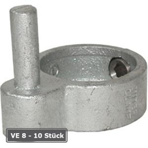 Rohrverbinder -T&uuml;rangel-, VE 8 - 10 St&uuml;ck, aus Temperguss, T&Uuml;V-gepr&uuml;ft (f&uuml;r Rohr-Durchmesser/Verpackungseinheit (VE):  <b>48,3 mm</b> (VE 8 Stk.) (Art.Nr.: 31671))