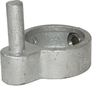 Rohrverbinder -Türangel-, aus Temperguss, TÜV-geprüft, VPE 8 - 10 Stk. (für Rohr-Durchmesser/Menge:  <b>26,9 mm</b> / VPE 10 Stk. (Art.Nr.: 31668))