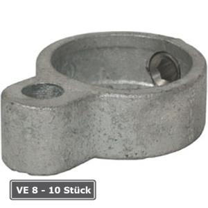 Rohrverbinder -T&uuml;r&ouml;se-, VE 8 - 10 St&uuml;ck, aus Temperguss, T&Uuml;V-gepr&uuml;ft (f&uuml;r Rohr-Durchmesser/Verpackungseinheit (VE):  <b>48,3 mm</b> (VE 8 Stk.) (Art.Nr.: 31667))