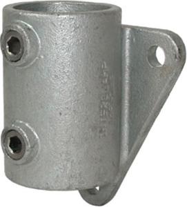 Rohrverbinder -Wandbefestigung-, aus Temperguss, TÜV-geprüft, VPE 8 - 10 Stk. (für Rohr-Durchmesser/Menge:  <b>33,7 mm</b> / VPE 10 Stk. (Art.Nr.: 31679))