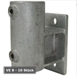 Rohrverbinder -Wandbefestigung mit Abstandhalter-, VE 8 - 10 St&uuml;ck, aus Temperguss, T&Uuml;V-gepr&uuml;ft (f&uuml;r Rohr-Durchmesser/Verpackungseinheit (VE):  <b>33,7 mm</b> (VE 10 Stk.) (Art.Nr.: 31676))