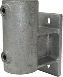 Rohrverbinder -Wandbefestigung mit Abstandhalter-, aus Temperguss, TÜV-geprüft, VPE 8 - 10 Stk. (für Rohr-Durchmesser/Menge:  <b>33,7 mm</b> / VPE 10 Stk. (Art.Nr.: 31676))