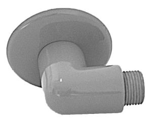 Rückwand-Anschlusswinkel mit Wandrosette für Hand-Augendusche (Ausführung: Rückwand-Anschlusswinkel mit Wandrosette für Hand-Augendusche (Art.Nr.: 25947))