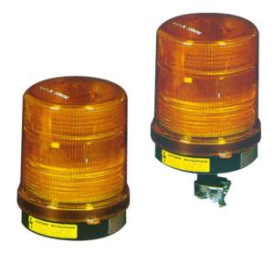 Rundumkennleuchte Magnus, vollelektronisch, gem. DIN 14620 (Modell/Leistung/Farbe:  <b>Form B1 230V-/gelb</b><br>Einzelblitz,inkl. Netzkabel<br>mit Flachsockel (Art.Nr.: 18524))