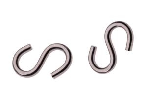 S-Haken aus Edelstahl, Gliederstärke 6 mm (Ausführung: S-Haken aus Edelstahl, Gliederstärke 6 mm (Art.Nr.: 14370))