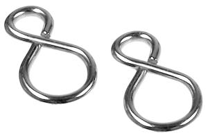S-Haken für Knoten- und Panzerketten aus Stahl (vernickelt), VPE 10 Stk. (Ausführung: S-Haken für Knoten- und Panzerketten aus Stahl (vernickelt), VPE 10 Stk. (Art.Nr.: 90.9124))