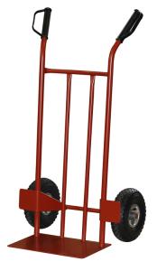 Sackkarre -300-, Tragfähigkeit 300 kg, aus Stahl, mit Handschutzgriffen und Radschutz (Radtyp/Radgröße/Felgenmaterial:  <b>Luftrad</b>/260x85mm/Stahlblech (Art.Nr.: 51901))