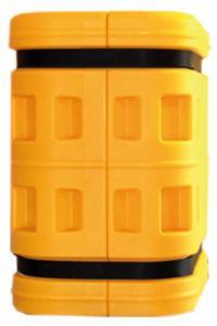 Säulenanfahrschutz -Harbor- aus LLDPE, für eckige Säulen und Stahlträger, Höhe 800 mm, im Baukastensystem, Montage ohne Werkzeug (Säulenmaße(BxT): 150 x 150 mm (Art.Nr.: 18159))