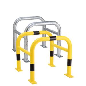 Säulenschutz -Mountain-, Ø 60 mm aus Stahl, zweiteilig, zum Aufdübeln, Höhe 600 mm (Innenmaße (B x T)/Außenmaße (B x T)/Oberfläche:  <b>400x400mm</b>/520x520mm<br>feuerverzinkt (Art.Nr.: 25867))
