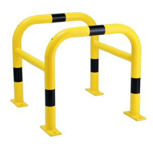 Säulenschutz -Solid-, Ø 60 mm aus Stahl, zweiteilig, zum Aufdübeln, Höhe 600 oder 800 mm (Größe (BxTxH): 600 x 600 x 650 mm (Art.Nr.: 465.066pbg))