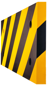 Säulenschutz aus PU- Länge 500 mm, Höhe 200 mm, hochwertig, flexibel (Modell:  <b>Prallschutz für Ecksäulen</b> inkl. 2 Stahlblechen (Art.Nr.: 11407))