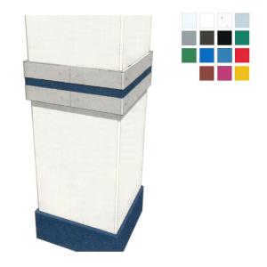 Säulenschutzprofil aus HDPE -Defender E15- für Rechtecksäulen mit 90°-Ecken, Profiltiefe 15 mm