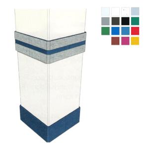 Säulenschutzprofil aus HDPE -Defender F15- für Rechtecksäulen mit 45°-Fasen, Profiltiefe 15 mm