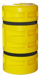 Säulenschutzsystem -Cord-, LLDPE, für viereckige Säulen und Stahlträger, Säulenmaßen 100-300 mm (Säulenmaße/Höhe/Ø/Form:  <b>100x100mm</b>/1000mm<br>Ø435mm/achteckig (Art.Nr.: 18195))