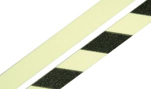 Safety Walk Antirutsch-Streifen aus Aluminium, langnachleuchtend (Farbe: langnachleuchtend / schwarz (Art.Nr.: 15.7507))