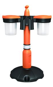 Sammelbehälter für -Skipper- Absperrpfosten (Deckelfarbe: anthrazit (Art.Nr.: 34816))
