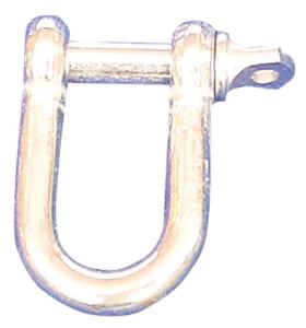 Schäkel aus Stahl für Absperrpfosten, verschiedene Farben (Farbe: gelb beschichtet (Art.Nr.: 430.12b-g))