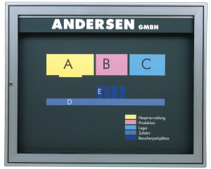 Schaukasten -Infomedia M- 1000 x 840 mm mit Sicherheitsschloss