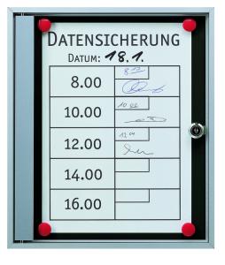 Schaukasten -Infomedia SK- 290 x 340 mm DIN A4, mit Sicherheitsschloss