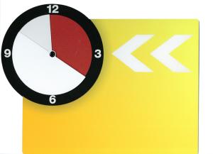 Schild für Kundenstopper -Safetyline- (Modell/Farbe:  <b>Achtung</b>/gelb (Art.Nr.: 32627))
