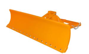 Schneepflug -Typ SCH-U- aus Stahl, Einfahrtaschen unten, mit automatischem Niveauausgleich (Modell/Räumbreiten/Schildbreite/Gewicht: Stahlschürfleiste<br>1100, 1300 und 1500 mm<br>1500 mm / 195 kg (Art.Nr.: 38300))