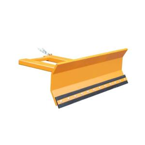 Schneeschieber -Typ SCH-L- aus Stahl, Sicherung gegen Abrutschen, mit verstellbarem Räumschild (Modell/Räumbreiten/Schildbreite/Gewicht: lackiert in RAL 2000 (gelborange)<br>1300 und 1500 mm<br>1500 mm / 120 kg (Art.Nr.: 38278))