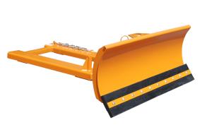Schneeschieber -Typ SCH- aus Stahl, mit verstellbarem Räumschild (Modell/Räumbreiten/Schildmaße(BxH)/Gewicht: Gummischürfleiste<br>1100, 1300 und 1500 mm<br>1500 x 620 mm / 172 kg (Art.Nr.: 38247))