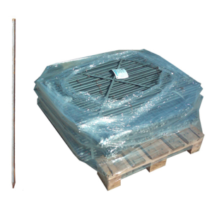 Schnurnagel mit angeschmiedeter Spitze, Ø 20 mm, Länge 800 oder 1000 mm, VPE 500 Stück (Länge/Menge: 800 mm / VPE 500 Stk. (Art.Nr.: 14138))