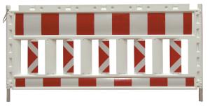 Schrankenzaun -Cordon Profi-, rot / weiß (Folienlänge/Gesamtlänge/Weisung: 2,00m/ca. 2,00m/rechtsweisend (Art.Nr.: 33320ksbr))