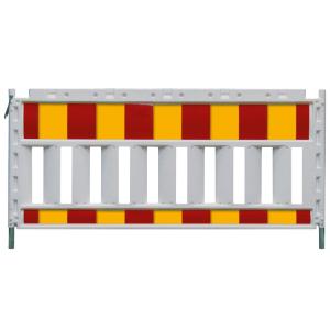 Schrankenzaun -Euro SK- aus Kunststoff, rot / gelb, verschiedene Längen und Folien (Folienlänge/Folie/Gewicht:  <b>1,60 m</b> / Folie Typ 1 (RA1) / 9,4 kg (Art.Nr.: 33316ksk))