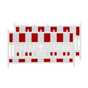 Schrankenzaun -Vario-, Prüfung gem. TL-Absperrschranken, rot / weiß, VPE 2 Stk. (Ausführung: Schrankenzaun -Vario-, Prüfung gem. TL-Absperrschranken, rot/weiß, VPE 2 Stk. (Art.Nr.: 18425))